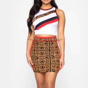 Fashion Nova Block Out The Haters Skirt Set